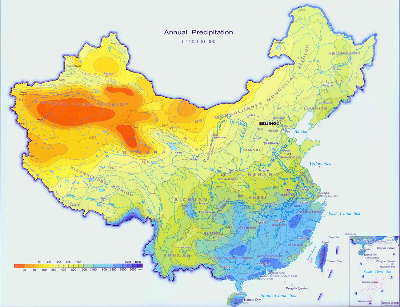 Changde China  city images : Notice the correlation between rainfall and poverty stricken provinces ...