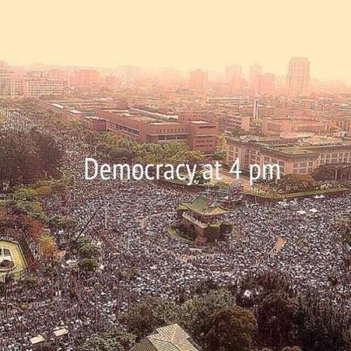 台湾democracy at 4 pm