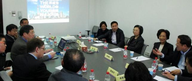 A delegation of Shanghai Municipal People's Congress visited campus in March, 2014.
