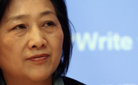 A file photo of Chinese journalist Gao Yu speaking at a press conference in Hong Kong. AFP via RFA http://www.rfa.org/english/commentaries/baotong/detention-03302015110907.html