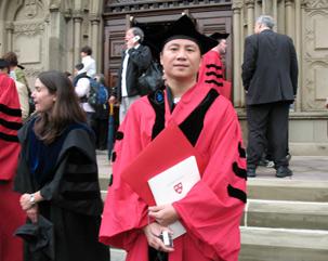 Wang Dan, Harvard
